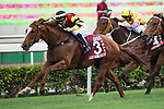 SHA TIN,HONG KONG-MAY 07: Lucky Bubbles #3,ridden by Hugh Bowman,wins the Chairman's Sprint Prize at Sha Tin Racecourse on May 7,2017 in Sha Tin,New Territories,Hong Kong (Photo by Kaz Ishida/Eclipse Sportswire/Getty Images)