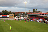 General view of the benind closed doors action during Dagenham & Redbridge vs Wealdstone, Vanarama National League Football at the Chigwell Construction Stadium on 10th October 2020