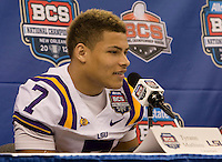 BCS National Championship Media Day at Superdome January 06 2012