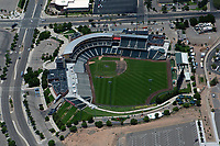 aerial photograph of Rio Grande Credit Union Field at Isotopes Park, Albuquerque, New Mexico