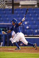 GCL Blue Jays first baseman Yorman Rodriguez (77) at bat during the second game of a doubleheader against the GCL Phillies on August 15, 2016 at Florida Auto Exchange Stadium in Dunedin, Florida.  GCL Phillies defeated the GCL Blue Jays 4-0.  (Mike Janes/Four Seam Images)