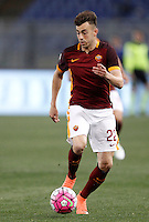 Calcio, Serie A: Roma vs Bologna. Roma, stadio Olimpico, 11 aprile 2016.<br /> Roma's Stephan El Shaarawy in action during the Italian Serie A football match between Roma and Bologna at Rome's Olympic stadium, 11 April 2016.<br /> UPDATE IMAGES PRESS/Isabella Bonotto