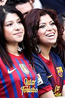 FC Barcelona's supporters during La Liga match.March 02,2013. (ALTERPHOTOS/Acero) /NortePhoto