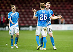Motherwell v St Johnstone…18.03.17     SPFL    Fir Park<br />Brian Easton hugs goalscorer Liam Craig at full time<br />Picture by Graeme Hart.<br />Copyright Perthshire Picture Agency<br />Tel: 01738 623350  Mobile: 07990 594431