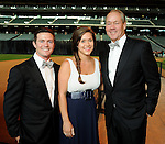 From left: Garrett and Krystal Thompson with her father Jim Crane at the Astros Wives' Gala at Minute Maid Park Thursday Aug. 16, 2012.(Dave Rossman/For the Chronicle)
