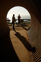 Tunnel to the viewpoint in Big Sur, CA