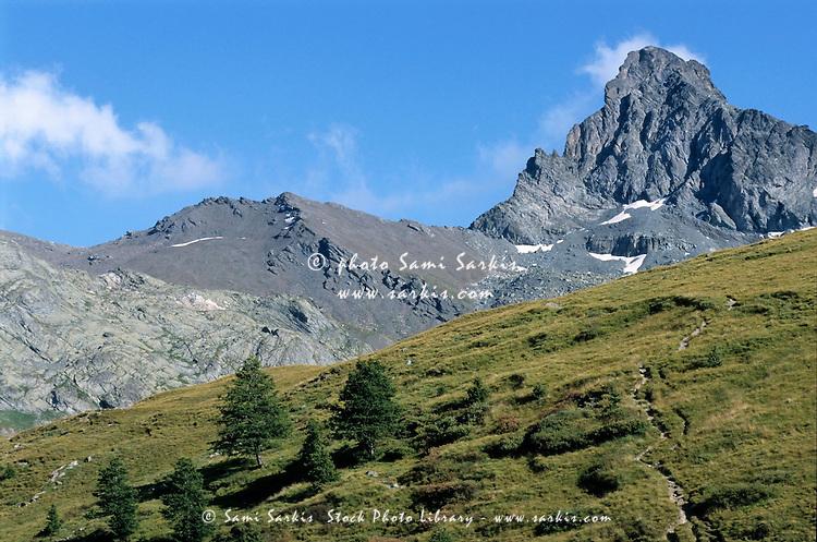 Mountain peak near Saint-Veran, French Alps, France.