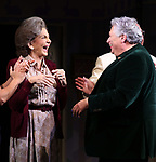 """Mercedes Ruehl and Harvey Fierstein during the Broadway Opening Night Curtain Call for """"Torch Song"""" at the Hayes Theater on November 1, 2018 in New York City."""