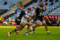22nd November 2020; Ricoh Arena, Coventry, West Midlands, England; English Premiership Rugby, Wasps versus Bristol Bears; Harry Randall of Bristol runs into space as Vellacott of Wasps looks to cover