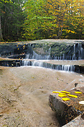 Ledge Brook during the autumn months, Located along the Kancamagus Highway (route 112) which is one of New England's scenic byways in the White Mountains, New Hampshire USA