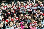 Japan Women's Team celebrating after winning Hong Kong during the Womens Rugby World Cup 2017 Qualifier match between Hong Kong and Japan on December 17, 2016 in Hong Kong, Hong Kong. Photo by Marcio Rodrigo Machado / Power Sport Images