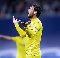 25th September 2021; Estadio Santiagp Bernabeu, Madrid, Spain; Men's La Liga, Real Madrid CF versus Villarreal CF; Dani Parejo of Villarreal talks to his coach Unai Emery