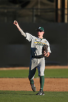 Hunter Hope #16 of the Tulane Green Wave during a game against the Pepperdine Waves at Eddy D. Field Stadium on March 13, 2015 in Malibu, California. Tulane defeated Pepperdine, 9-3. (Larry Goren/Four Seam Images)