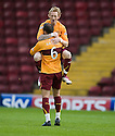 :: MOTHERWELL'S STEPHEN JONES CELEBRATES SCORING THE FIRST  ::.11/05/2011 sct_jsp003_motherwell_v_kilmarnock     .Copyright  Pic : James Stewart.James Stewart Photography 19 Carronlea Drive, Falkirk. FK2 8DN      Vat Reg No. 607 6932 25.Telephone      : +44 (0)1324 570291 .Mobile              : +44 (0)7721 416997.E-mail  :  jim@jspa.co.uk.If you require further information then contact Jim Stewart on any of the numbers above.........