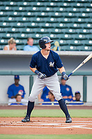 AZL Brewers designated hitter Tristen Lutz (45) bats during a game against the AZL Cubs on August 1, 2017 at Sloan Park in Mesa, Arizona. Brewers defeated the Cubs 5-4. (Zachary Lucy/Four Seam Images)