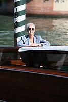 VENICE, ITALY - SEPTEMBER 08: Jamie Lee Curtis arrives at the 78th Venice International Film Festival on September 08, 2021 in Venice, Italy. (Photo by Mark Cape/Insidefoto)