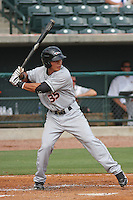 Delmarva Shorebirds outfielder Jeremy Nowak #35 at bat during a game against the Charleston Riverdogs at Joseph P. Riley Ballpark in Charleston, South Carolina on July 10, 2011. Charleston defeated Delmarva 5-4, in the second game of a doubleheader.  Robert Gurganus/Four Seam Images