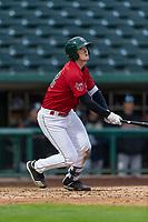 Fort Wayne TinCaps Blake Hunt (12) at bat during a Midwest League game against the Fort Wayne TinCaps at Parkview Field on April 30, 2019 in Fort Wayne, Indiana. Kane County defeated Fort Wayne 7-4. (Zachary Lucy/Four Seam Images)