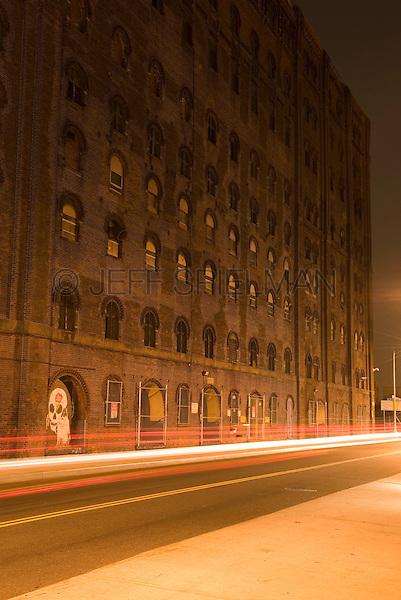 Mysterious Urban Street Scene, The Williamsburg Neighborhood of Brooklyn, New York City, New York State, USA