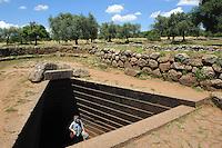 Nuraghisches Brunnenheiligtum (Pozzo Sacro, 1.000 v.Chr.) Santa Cristina, Provinz Oristano, West - Sardinien, Italien