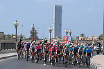 Km0 the start of Stage 6 of the 2021 UAE Tour running 165km from Deira Island to Palm Jumeirah, Dubai, UAE. 26th February 2021.<br /> Picture: LaPresse/Fabio Ferrari   Cyclefile<br /> <br /> All photos usage must carry mandatory copyright credit (© Cyclefile   LaPresse/Fabio Ferrari)