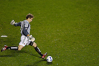 D.C. United goalkeeper Troy Perkins (1). The Chicago Fire defeated D. C. United 1-0 during the first leg of the MLS Eastern Conference Semifinal Series at Toyota Park in Bridgeview, IL, on October 25, 2007.