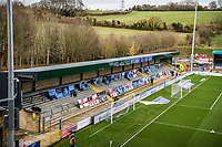 21st November 2020; Adams Park Stadium, Wycombe, Buckinghamshire, England; English Football League Championship Football, Wycombe Wanderers versus Brentford; A general view of Adams Park due to the pandemic