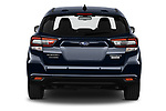 Straight rear view of 2021 Subaru Impreza Premium 5 Door Hatchback Rear View  stock images