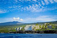 Hualalai volcano, Keauhou Sheraton resort, Keauhou, The Big Island of Hawaii