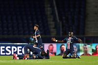 Soccer Football - Champions League - Round of 16 Second Leg - Paris St Germain v Borussia Dortmund - Parc des Princes, Paris, France - March 11, 2020  Paris St Germain's Idrissa Gueye and teammates celebrate after the match   <br /> Photo Pool/Panoramic/Insidefoto