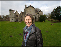 BNPS.co.uk (01202 558833)<br /> Pic: BNPS<br /> <br /> Katharine Thimbleby outside Wolfeton House <br /> <br /> Countryside campaigners are today celebrating after defeating controversial plans to build a housing estate next to a historic manor that inspired Thomas Hardy.<br /> <br /> Developers had hoped to build 89 new homes in the vicinity of Wolfeton House, which is indelibly linked to Hardy's 1886 novel The Mayor of Casterbridge.<br /> <br /> But officials at Dorset Council have rejected their planning application, to the relief of objectors including Historic England and the Thomas Hardy Society, who argued Hardy's idyllic setting would be 'ruined' by the development.