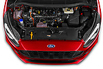 Car Stock 2021 Ford S-Max ST-Line 5 Door Mini MPV Engine  high angle detail view