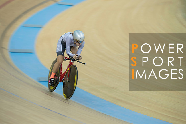 Yang Qianyu of the IND competes in the Women Elite - Individual Pursuit Qualifying category during the Hong Kong Track Cycling National Championships 2017 at the Hong Kong Velodrome on 18 March 2017 in Hong Kong, China. Photo by Chris Wong / Power Sport Images