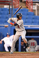 Brevard County Manatees  second baseman Orlando Arcia (2) during a game against the Dunedin Blue Jays on April 11, 2014 at Florida Auto Exchange Stadium in Dunedin, Florida.  Brevard County defeated Dunedin 5-2.  (Mike Janes/Four Seam Images)