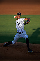 Tampa Yankees starting pitcher Dillon Tate (22) delivers a pitch during a game against the Palm Beach Cardinals on July 25, 2017 at George M. Steinbrenner Field in Tampa, Florida.  Tampa defeated Palm beach 7-6.  (Mike Janes/Four Seam Images)