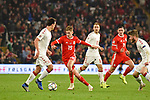 Cardiff - Wales - UK - 16th November 2018 - UEFA Nations League 2019 :<br />Wales v Denmark at the Cardiff City Stadium :<br />David Brookes of Wales makes his way through the Denmark defence late in the second half.