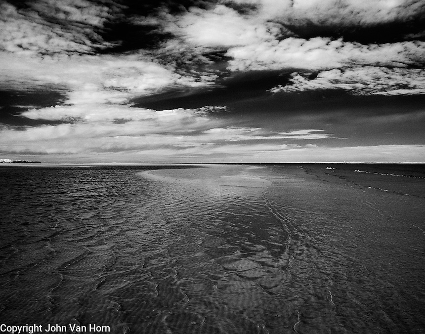 Infrared photos of Hilton Head Island Beach at low tide on the Port Royal Sound.
