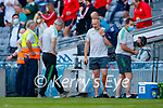 Players at the final whistle the Senior football All Ireland Semi-Final between Kerry and Tyrone at Croke park on Saturday.