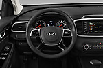 Car pictures of steering wheel view of a 2020 KIA Sorento S-V6 5 Door SUV Steering Wheel