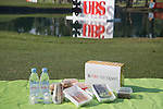Picnic basket on the sidelines of the 58th UBS Hong Kong Golf Open as part of the European Tour on 10 December 2016, at the Hong Kong Golf Club, Fanling, Hong Kong, China. Photo by Vivek Prakash / Power Sport Images