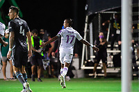 LAKE BUENA VISTA, FL - AUGUST 06: Nani #17 of Orlando City SC celebrates a goal during a game between Orlando City SC and Minnesota United FC at ESPN Wide World of Sports on August 06, 2020 in Lake Buena Vista, Florida.