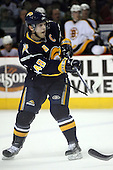 February 17th 2007:  Danny Briere (48) of the Buffalo Sabres takes a shot on goal vs. the Boston Bruins at HSBC Arena in Buffalo, NY.  The Bruins defeated the Sabres 4-3 in a shootout.