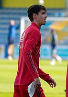 Mathieu De Smet (15) of Belgium pictured before a friendly soccer game between KVC Westerlo and Belgium U21 on Tuesday 30 th of March 2021  in Westerlo Youth Complex , Westerlo Belgium . PHOTO SPORTPIX.BE | SPP | SEVIL OKTEM