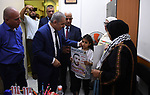 Palestinian Prime Minister Mohammed Ishtayeh takes a tour in the West Bank city of Hebron on September 27, 2021. Photo by Prime Minister Office