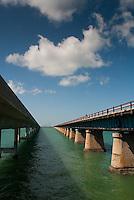 Old and new Seven Mile Bridge, Marathon, Florida