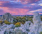 Sunset, Tufa Formations, Mono Lake, Mono Basin National Forest Scenic Area, Inyo National Forest, Eastern Sierra, California