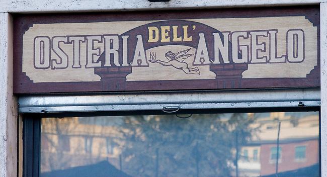 Osteria Dell Angelo Restaurant, Rome, Italy