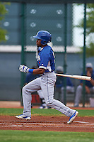 Los Angeles Dodgers Deion Ulmer (5) during an instructional league game against the Cleveland Indians on October 15, 2015 at the Goodyear Ballpark Complex in Goodyear, Arizona.  (Mike Janes/Four Seam Images)