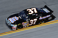 Feb 07, 2009; Daytona Beach, FL, USA; NASCAR Sprint Cup Series driver Tony Raines during practice for the Daytona 500 at Daytona International Speedway. Mandatory Credit: Mark J. Rebilas-