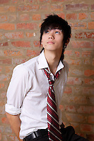 Montreal (Qc) CANADA , October 2007 -<br /> Model Released photo -<br /> 17 year half asian-half white EMO teenager<br /> photo : (c) images Distribution